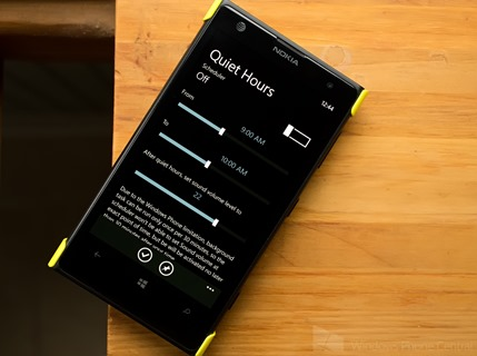 Quiet Hours для Windows Phone 8