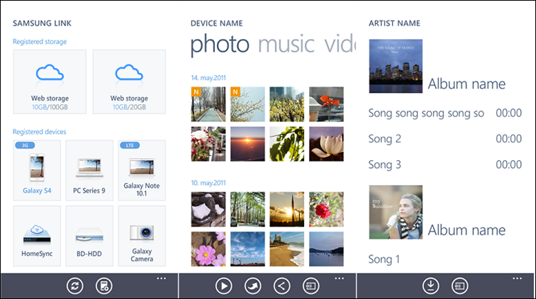 Samsung Link для Windows Phone 8