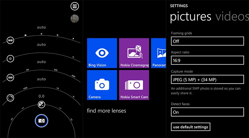 Nokia Lumia 1020 Camera UI