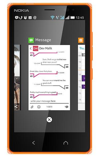 Nokia X2 multitasking
