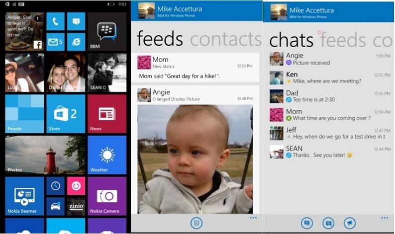 BlackBerry Messenger для Windows Phone
