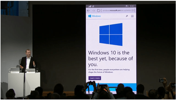 Sprtan Browser in WIndows 10 for Phone