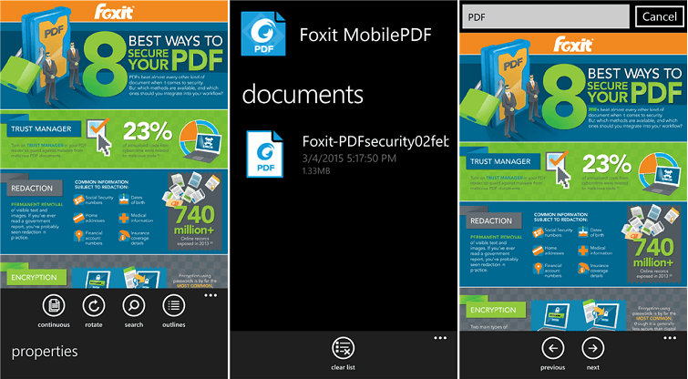 Foxit Reader Windows Phone