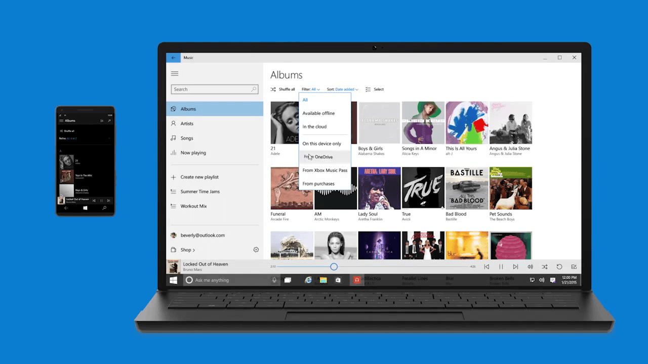 Windows 10 Music