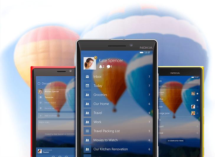 Wunderlist for Windows Phone