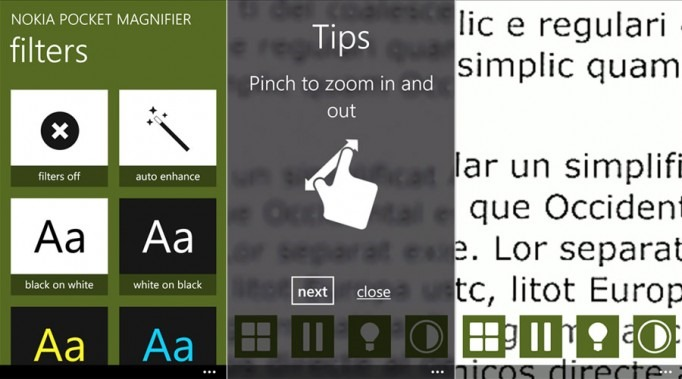 Nokia Pocket Magnifier App