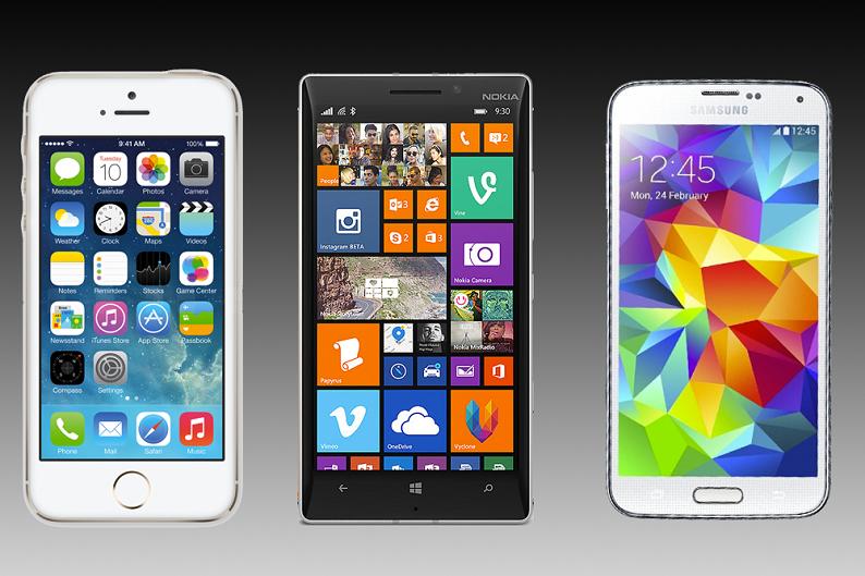 Lumia 930 vs. Galaxy S5 vs. iPhone 5S