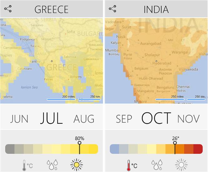 Climatology для Windows Phone