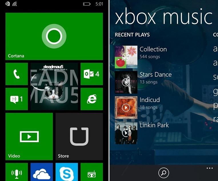 Обновленное приложение Xbox Music в Windows Phone 8.1 Update 1