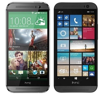 Android based One M8 vs. the Windows Phone version