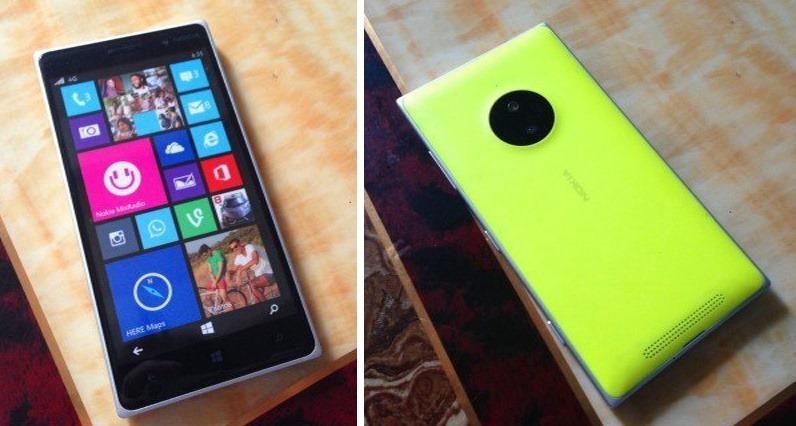 Nokia Lumia 830 Yellow