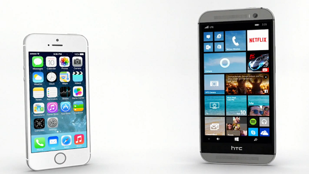 HTC One M8 for Windows vs iPhone