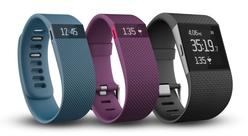 Fitbit Charge, Charge HR and Surge
