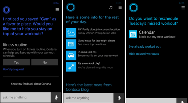 Cortana Fitness