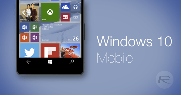 Windows 10 Mobile main